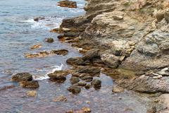 Island in the sea. Nature of Provence Stock Photos
