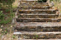 ancient stone staircase in the Park. Provence. France - stock photo
