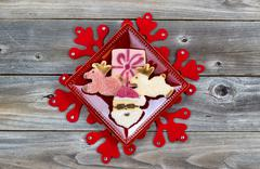 cookie decorations for the holiday season - stock photo