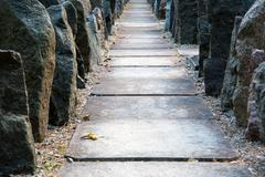 Stock Photo of Stone passage between rocks