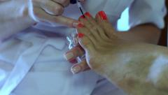 Pedicure Foot Care Chiropody Stock Footage