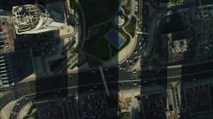 Stock Video Footage of Aerial Dubai Skyscrapers Lake Almas Tower UAE