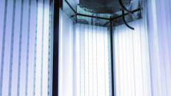 Solarium Tanning Beds Stock Footage