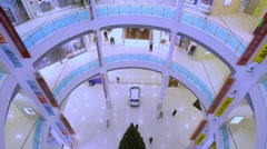 Shoppers In Shopping Mall Stock Footage
