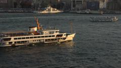 Istanbul Turkey ferry boat Bosporus Strait 4K 085 Stock Footage