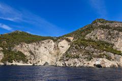 mountain slope in zakynthos island, greece - stock photo