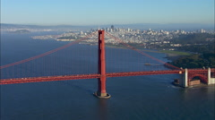 San Francisco Golden Gate Bridge Stock Footage
