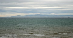 Thessaloniki, Greece seen over the sea Stock Footage