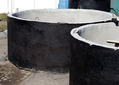 Concrete rings for water or draw-wells Stock Photos