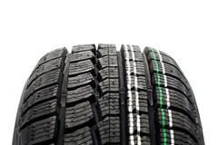 new winter tire tread - stock photo