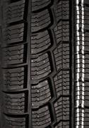 New winter tire tread Stock Photos