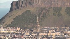 Holyrood Park and surrounding area Edinburgh Scotland Stock Footage