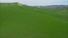 Green Hills Valley Grass Stock Footage