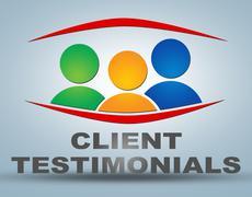 client testimonials - stock illustration