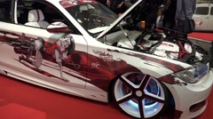 4k Motorshow show cars and automobile dreams Stock Footage