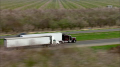 Semi Trucks Highway Eighteen Wheeler - stock footage
