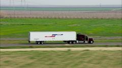 Semi Trucks Highway Eighteen Wheeler - stock footage
