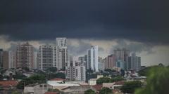 Sao Paulo, Brazil -  cityscape day buildings - timelapse - stock footage