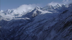 Clouds Snow Mountains Stock Footage