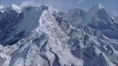 White Snow Himalaya Mountains Valley Stock Footage