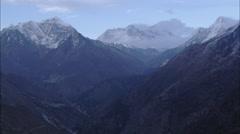 Canyons Town Snow Himalaya Mountains Stock Footage
