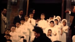 Stock Video Footage of Middle America ,1949,  Communion children