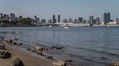San Diego City Skyline Time Lapse Stock Footage