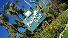 Beverly Hills Hotel sign out front  Stock Footage