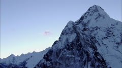 Snow Himalaya Mountains Peaks Cliffs Canyon Stock Footage