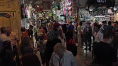 Istanbul Turkey Grand Bazaar market crowd people 4K 078 Stock Footage