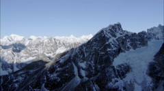 Snow Canyons Peaks Himalaya Mountains Stock Footage