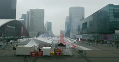 La Defense, Paris - Christmas Market Stock Footage