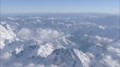 Clouds Snow Polar Himalaya Mountains Stock Footage