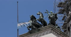 Statue of the National Congress of Argentina Stock Footage