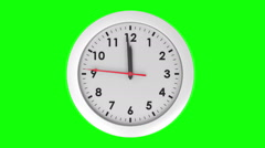 Clock ticking on green background - stock footage