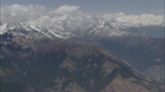 Clouds Snow Peaks Himalaya Mountains Stock Footage