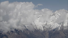 Clouds Snow Peaks Himalaya Mountains Stock Footage