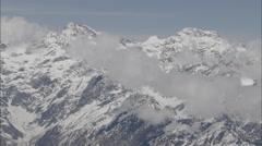 Snow Polar Himalaya Mountains Clouds Stock Footage