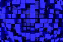 blue blocks - stock illustration