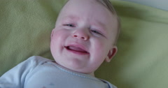 Baby8m Crying smile Stock Footage