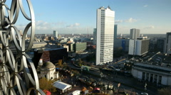 Birmingham, England city centre skyline. Stock Footage