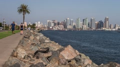 San Diego City Skyline Time Lapse - stock footage