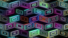 Neon Pattern 001 B Beat Random GTC 3840x2160 Stock Footage