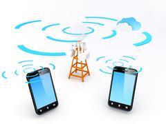 Stock Illustration of cellular network