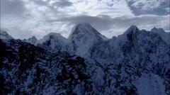 Polar Himalaya Mountain Snow Peak Stock Footage