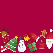 new year seamless border. endless christmas template - stock illustration