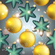 New year pattern with ball. christmas wallpaper Stock Illustration