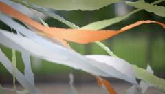Silk multicolored ribbons developed in the wind Stock Footage