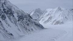 Polar Snow Himalaya Mountains Ridges Stock Footage