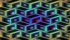 Neon Pattern 001 B Beat Wave GTC 1920x1080 Stock Footage